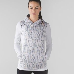 Lululemon Fluff Off Pullover Stained Glass/White 6